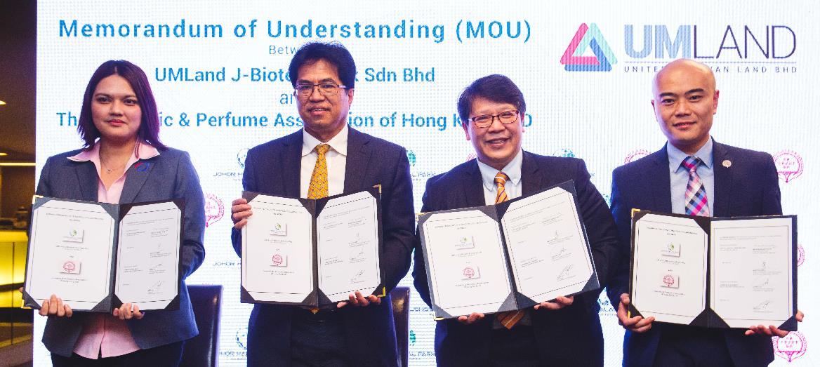 UMLand J-Biotech Park Sdn Bhd Signs MOU With the Cosmetic & Perfumery Association of Hong Kong Ltd and Persatuan Anggun Menawan Malaysia