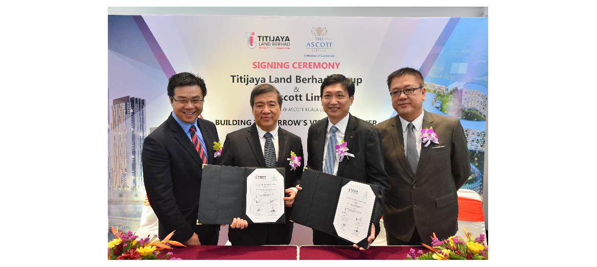 Titijaya Land Bhd signs agreement with The Ascott Limited for property projects in Penang and Shah Alam