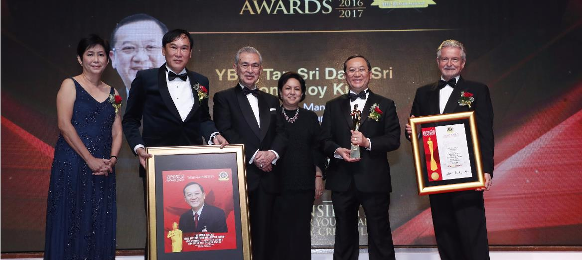 Tan Sri Dato''s Sri Leong Hoy Kum Dubbed Malaysia''s King of Property 2017 at the BrandLaureate BestBrands Awards 2017