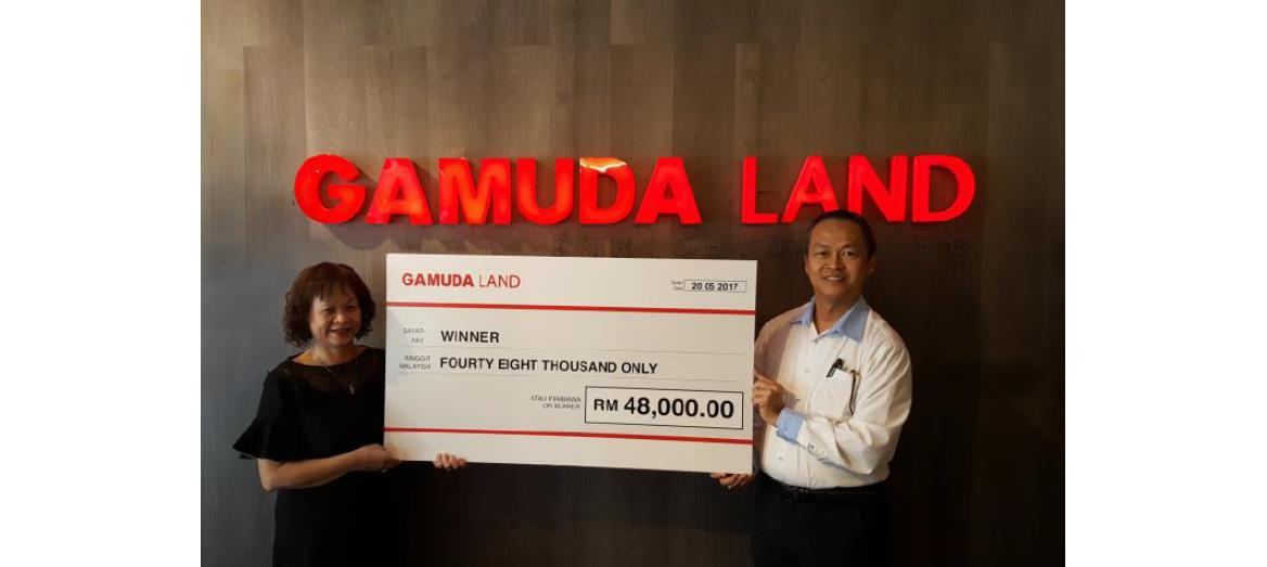 Winners of Gamuda Land 40th Anniversary Promotion Walked Away with RM48,000 Rebate on Property