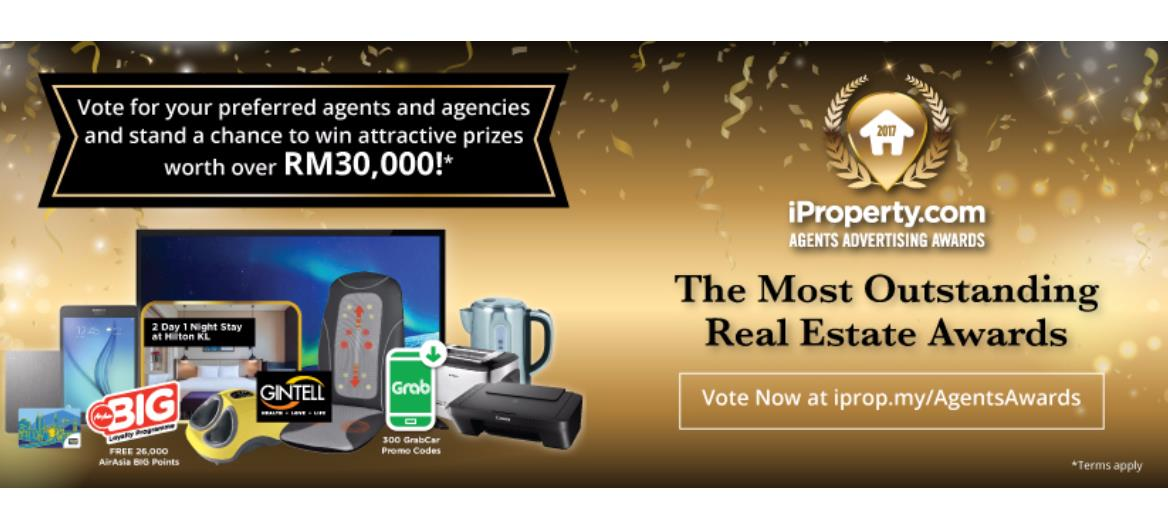 The 2017 iProperty.com Agents Advertising Awards Set to Recognise Real Estate Professional and Agencies
