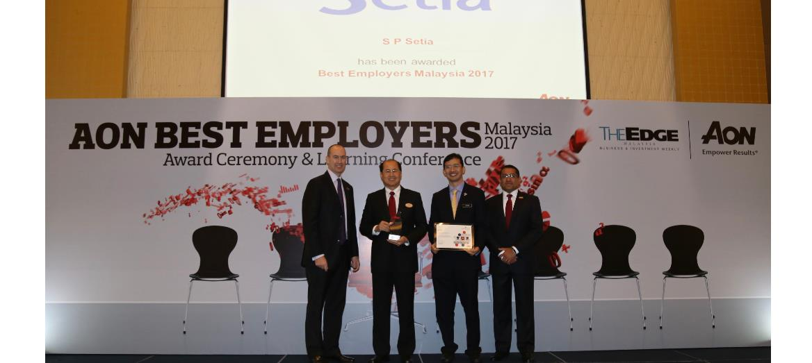 S P Setia Records Eighth Win At Aon Best Employers Award 2017