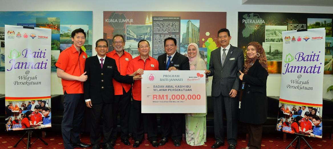 Mah Sing foundation donates RM1million to Baiti Jannati@Wilayah Persekutuan programme to enable disadvantaged families in KL to own their own home