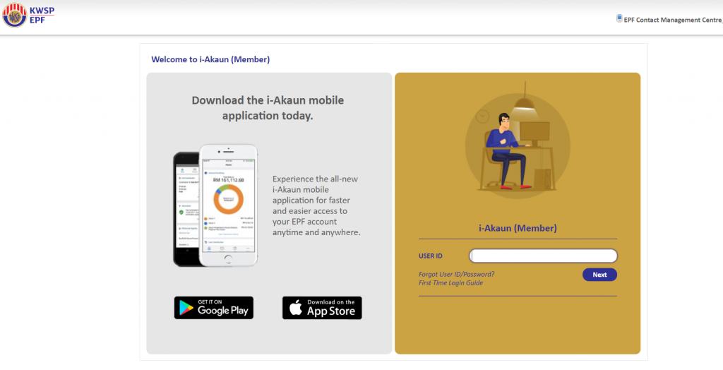 Register for i-Akaun on the EPF website