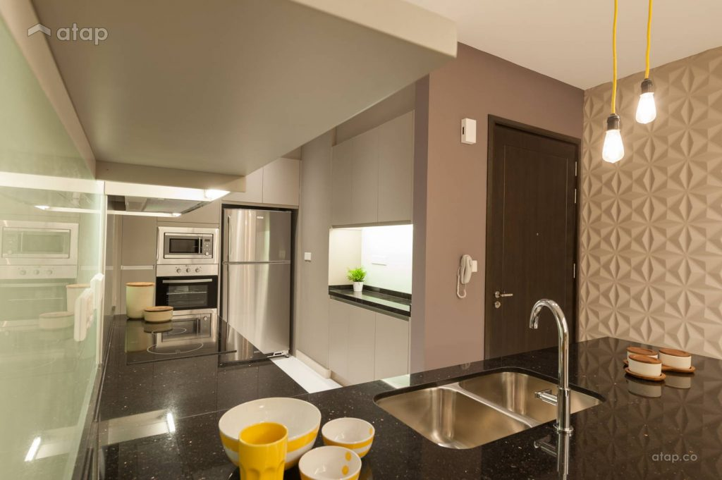 l-shaped kitchen design in a small apartment