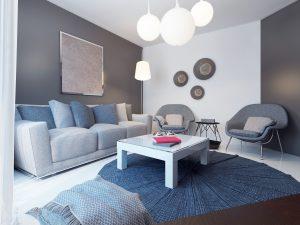Cozy lounge room minimalist style