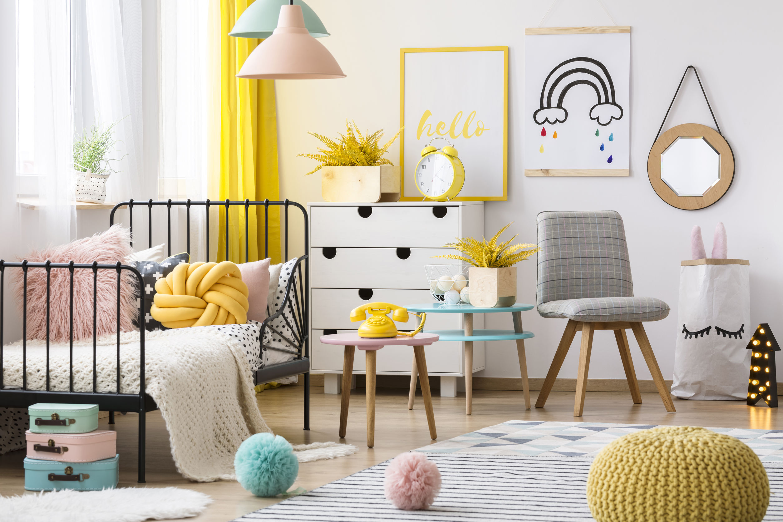 Colorful kid's bedroom interior