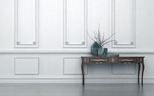 Vintage style console table in a classic room