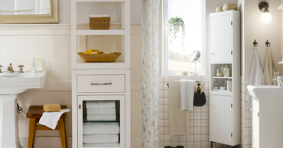 Small bathroom? Try these clever design tricks to create space