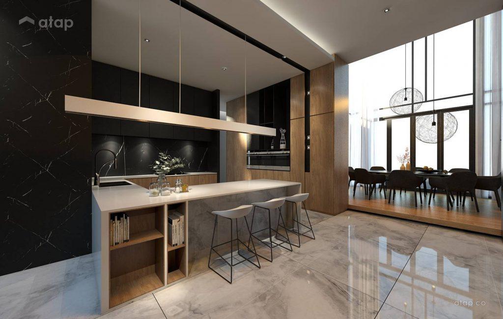 Kabinet dapur bentuk U