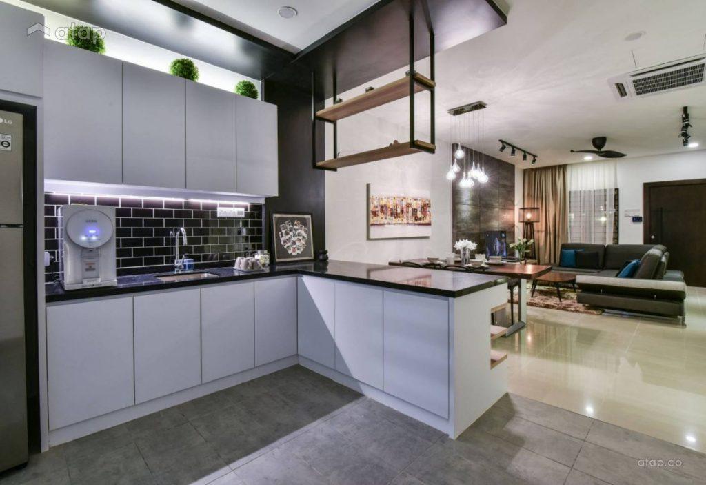 Susun Atur Ini Ideal Untuk Apartment Studio Memandangkan Ia Tidak Menggunakan Ruang Lantai Yang Banyak Dapur Bentuk L Hanya Memerlukan Dua Dinding
