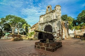 A famosa Fortress melaka. The remaining part of the ancient fort