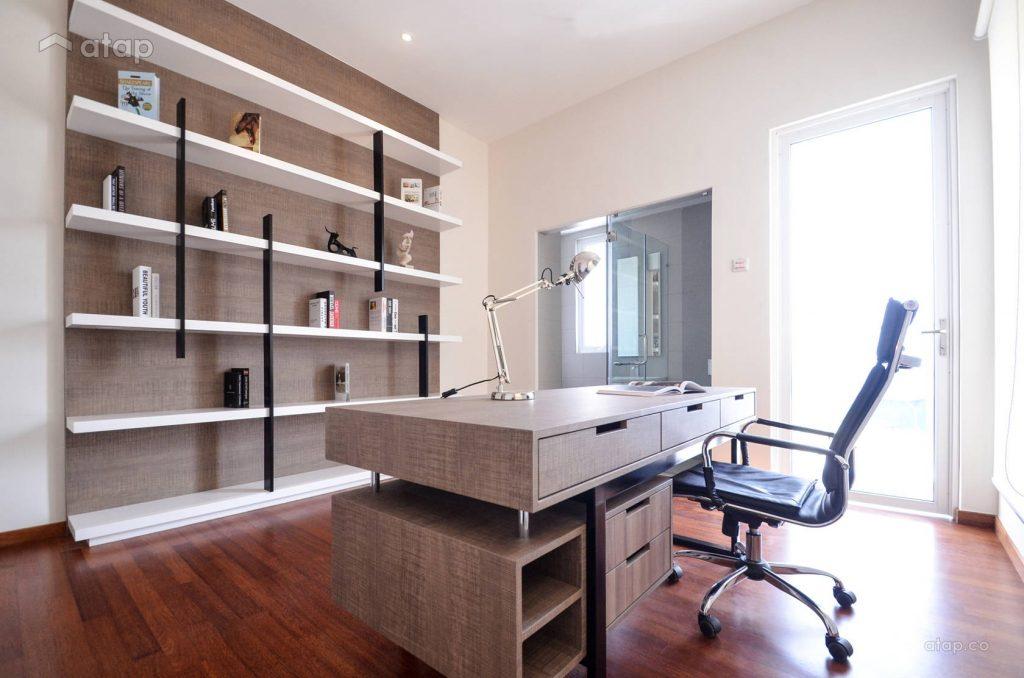 Gambar lampu hiasan meja di ruang kerja