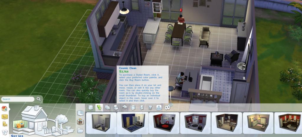 sims, interior design
