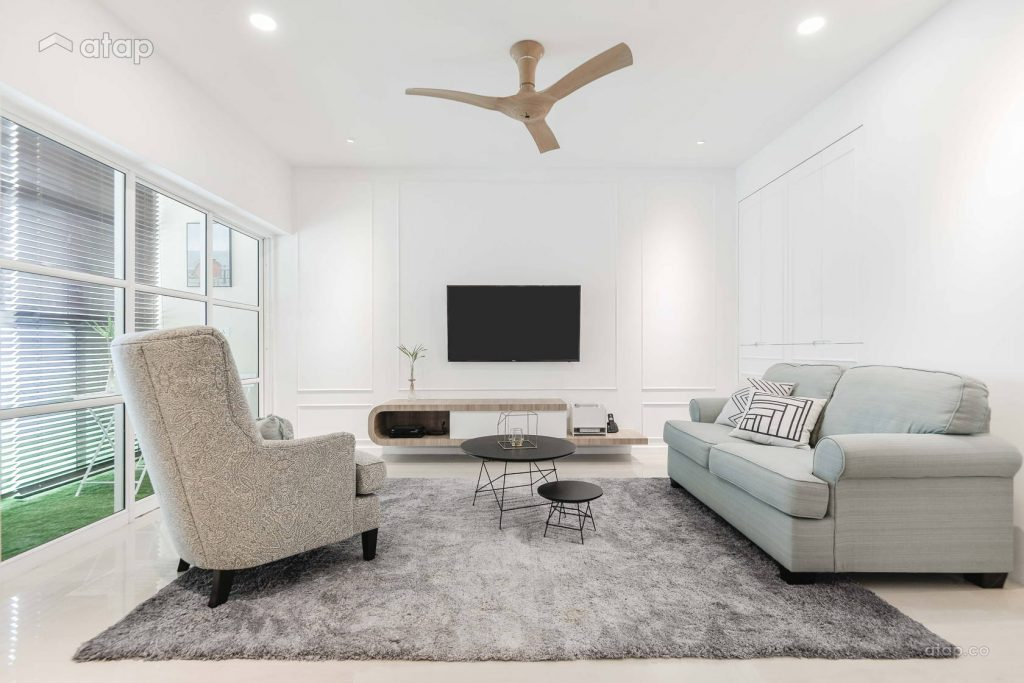 Use texture to add character to a minimalistic living room