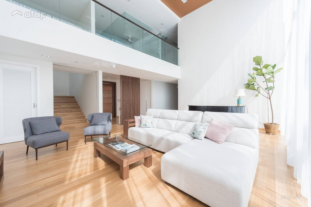 Have plenty of open spaces when creating a minimalistic living room