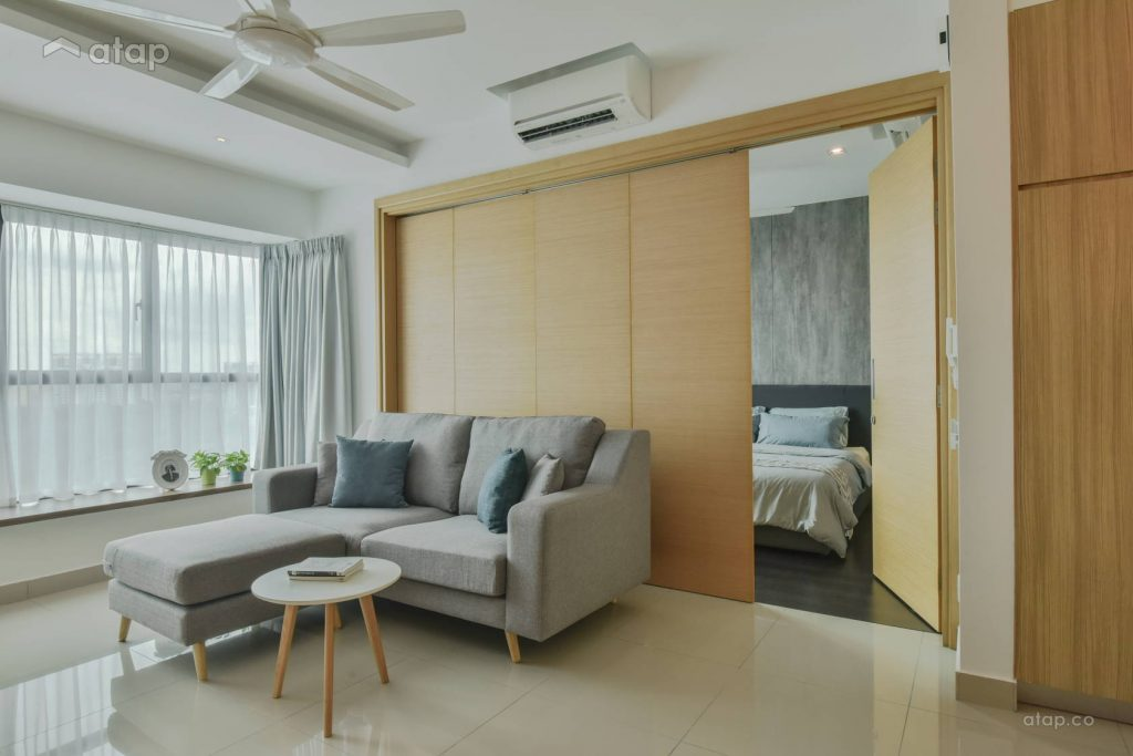 Be smart about your room layout when creating a minimalistic living room