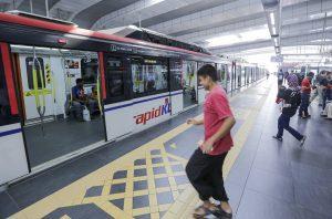 Malaysia LRT train-Unio residences
