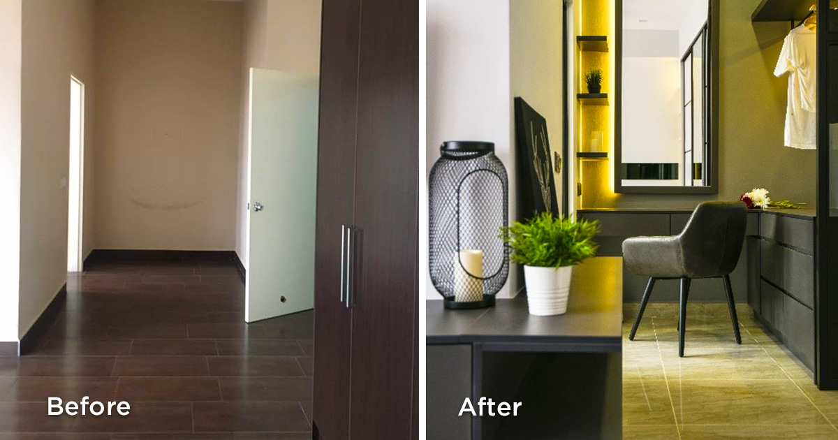 Before and after bedroom renovations
