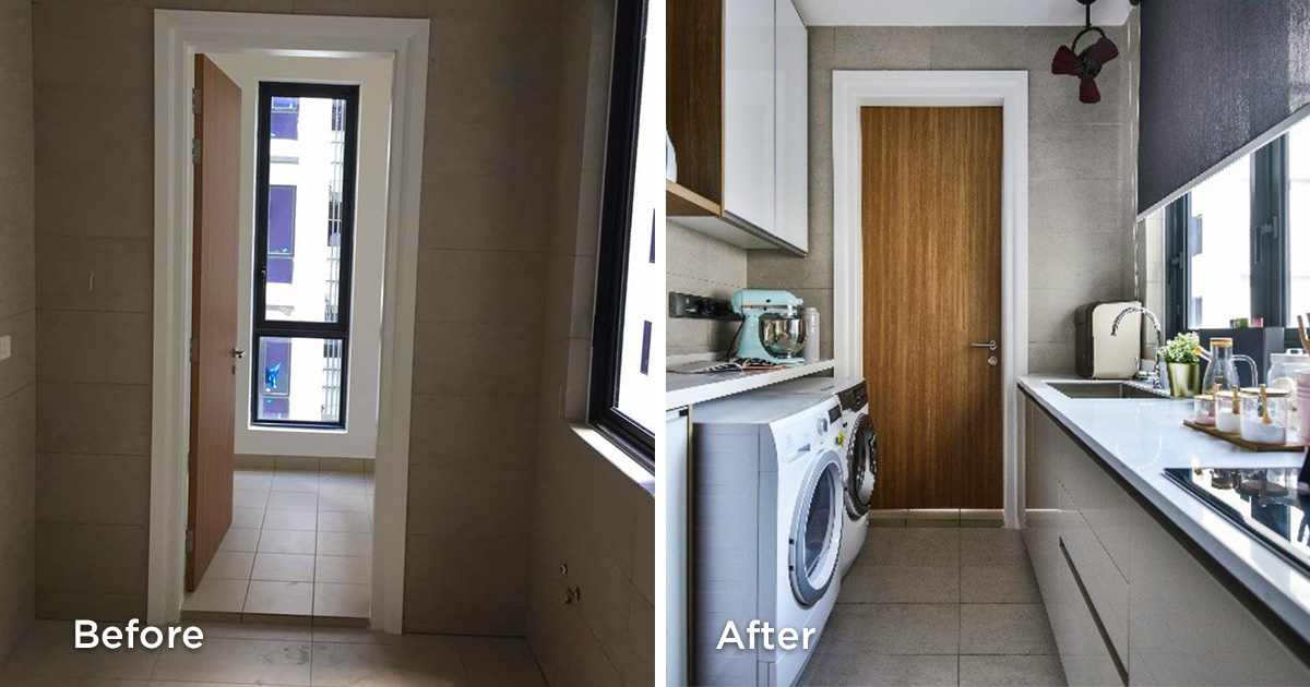 Before and after kitchen area renovations 3