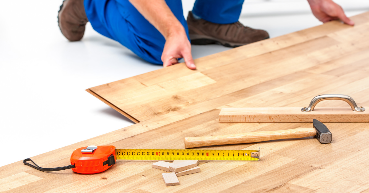 Step 7 to renovating your home is fixing the flooring.