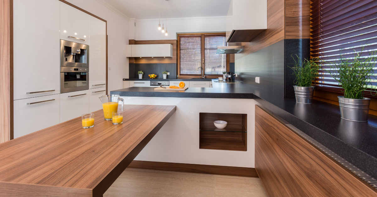The pros and cons of the wooden type of kitchen countertop
