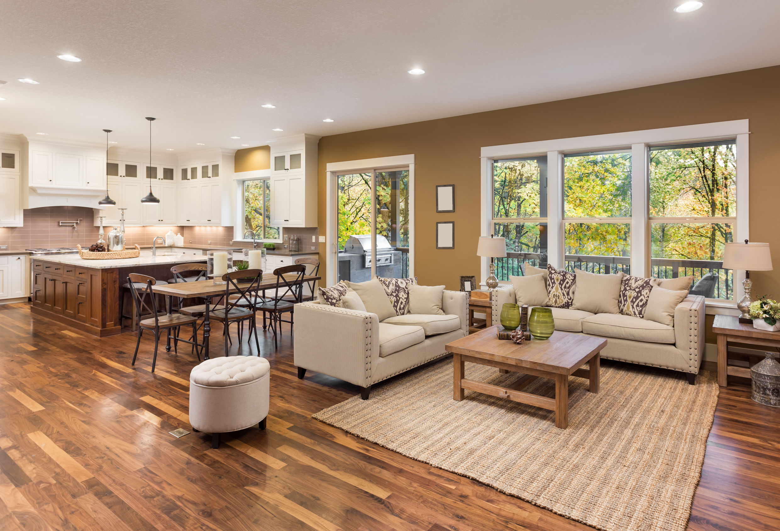 Example of Traditional Solid Wood/Hardwood Flooring