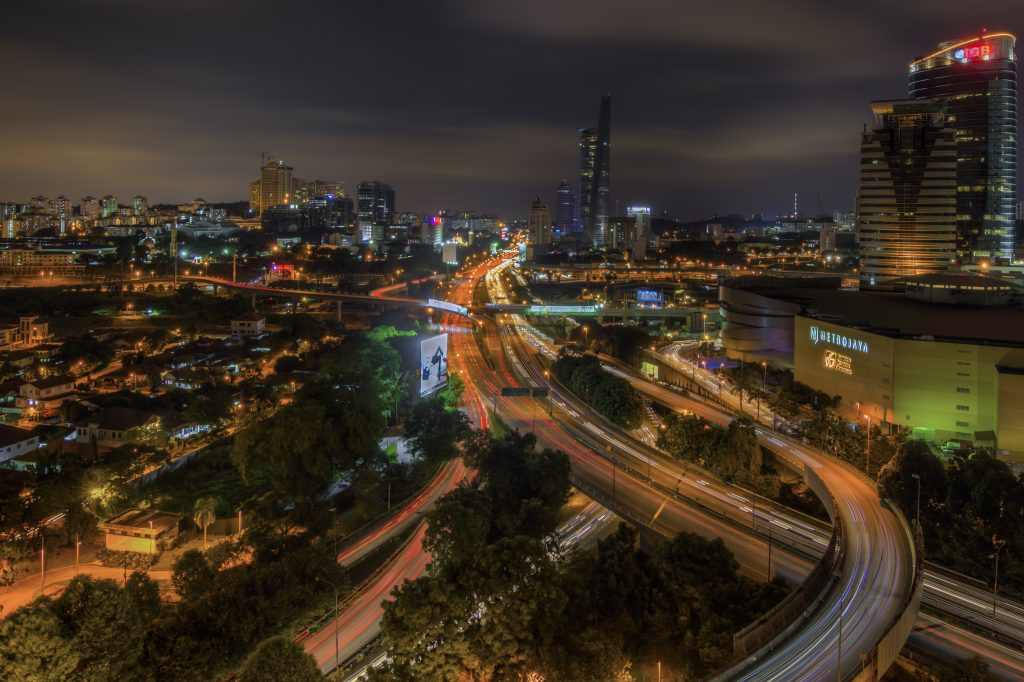 View of Mid Valley Megamall from taman Desa