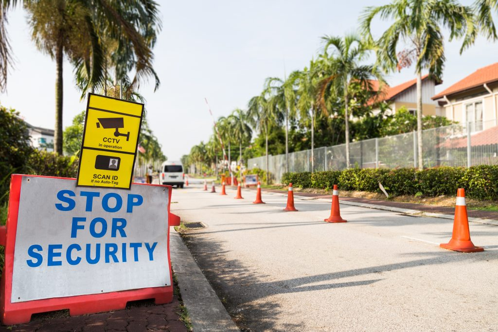 Rsidential area security checkpoint