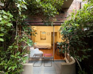 courtyard of a home