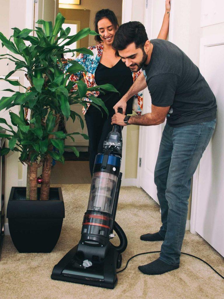 man-vacuuming