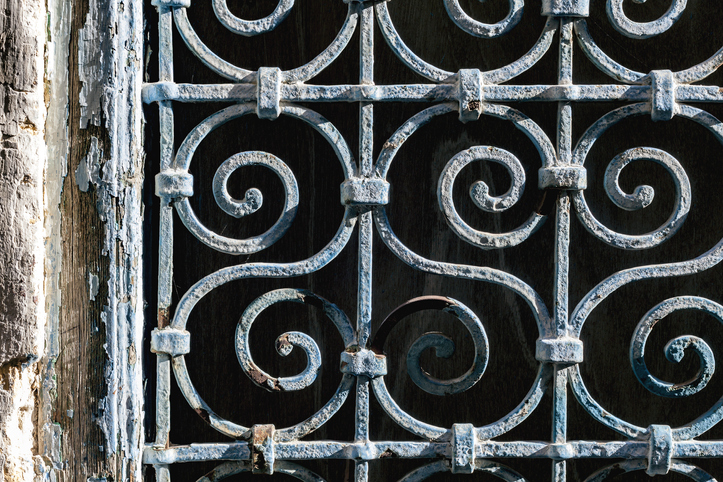 Steel grille gate design in Malaysia, resilient against the weather and rust.