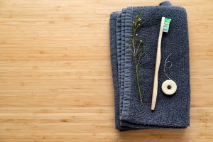 eco natural bamboo toothbrushes and biodegradable silk dental floss