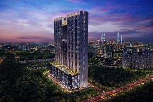 serviced residences with a multi-level Sky Gardens