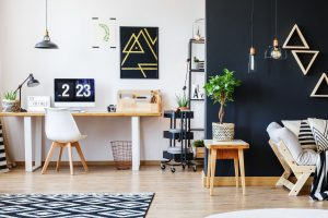 Stylish open studio for freelancer