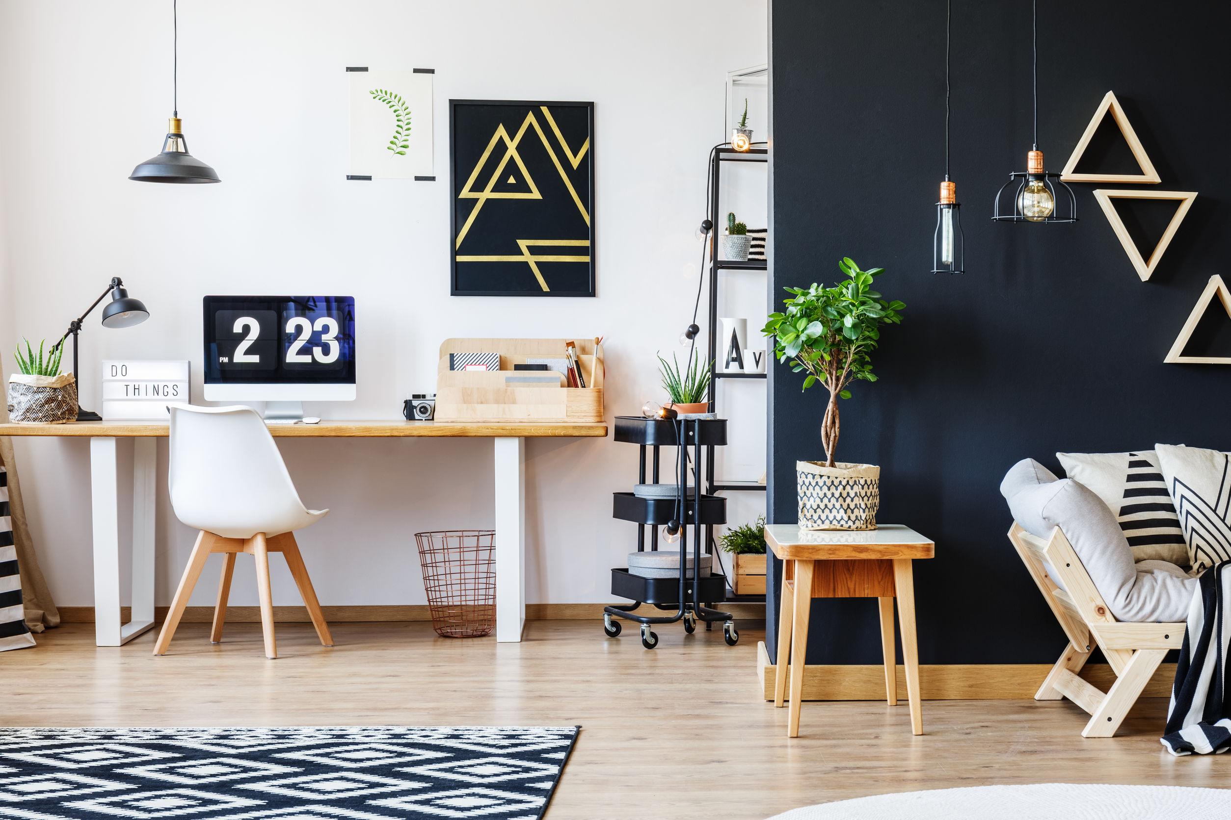 Stylish open studio for freelancer