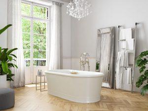 classic luxury bathroom.