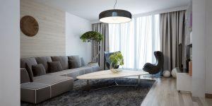 Bright spacious design of modern lounge