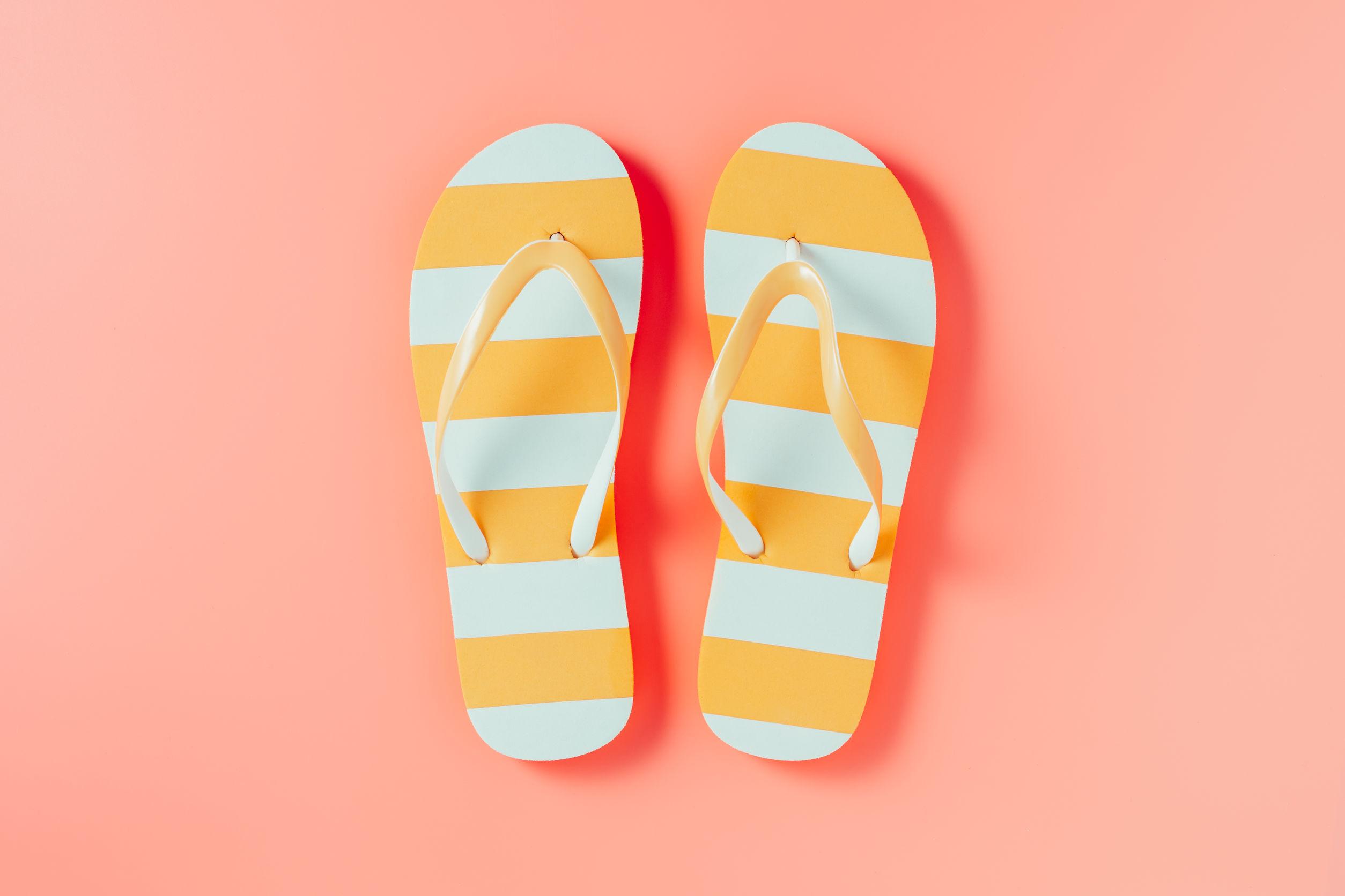 flip flops, slippers