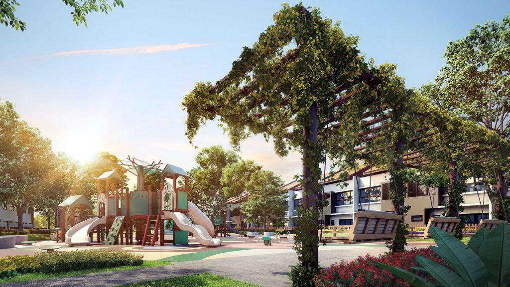 beautiful view of the playground