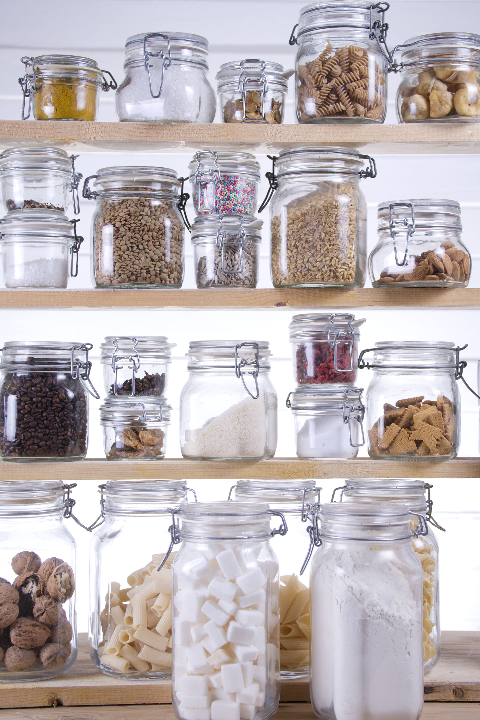 Small Pantry with containers