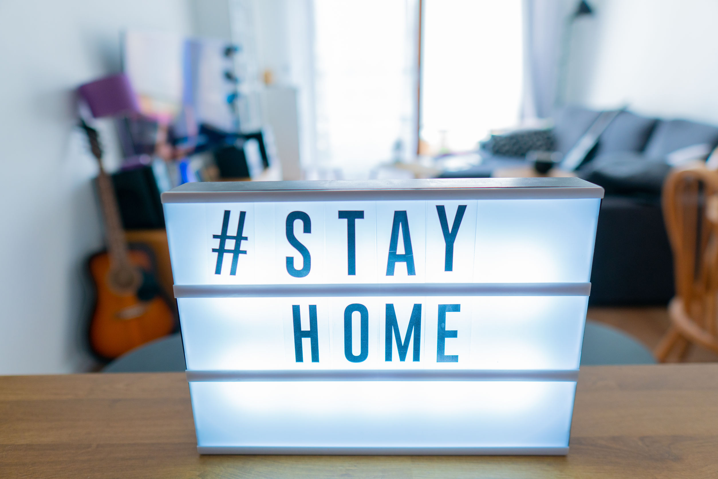 #stayhome sign