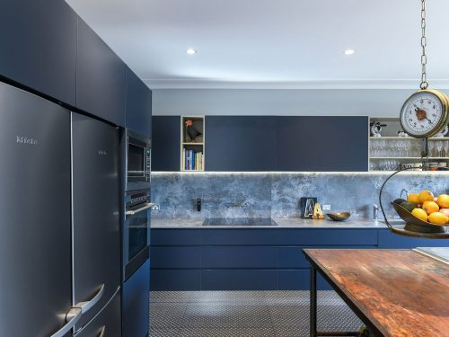 blue kitchen idea