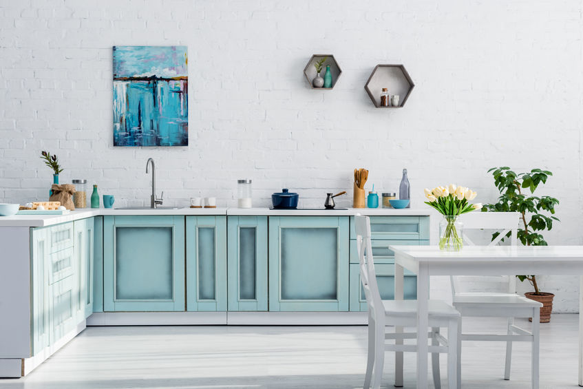 6 easy DIY kitchen ideas anyone can do - Hang some artwork in your kitchen