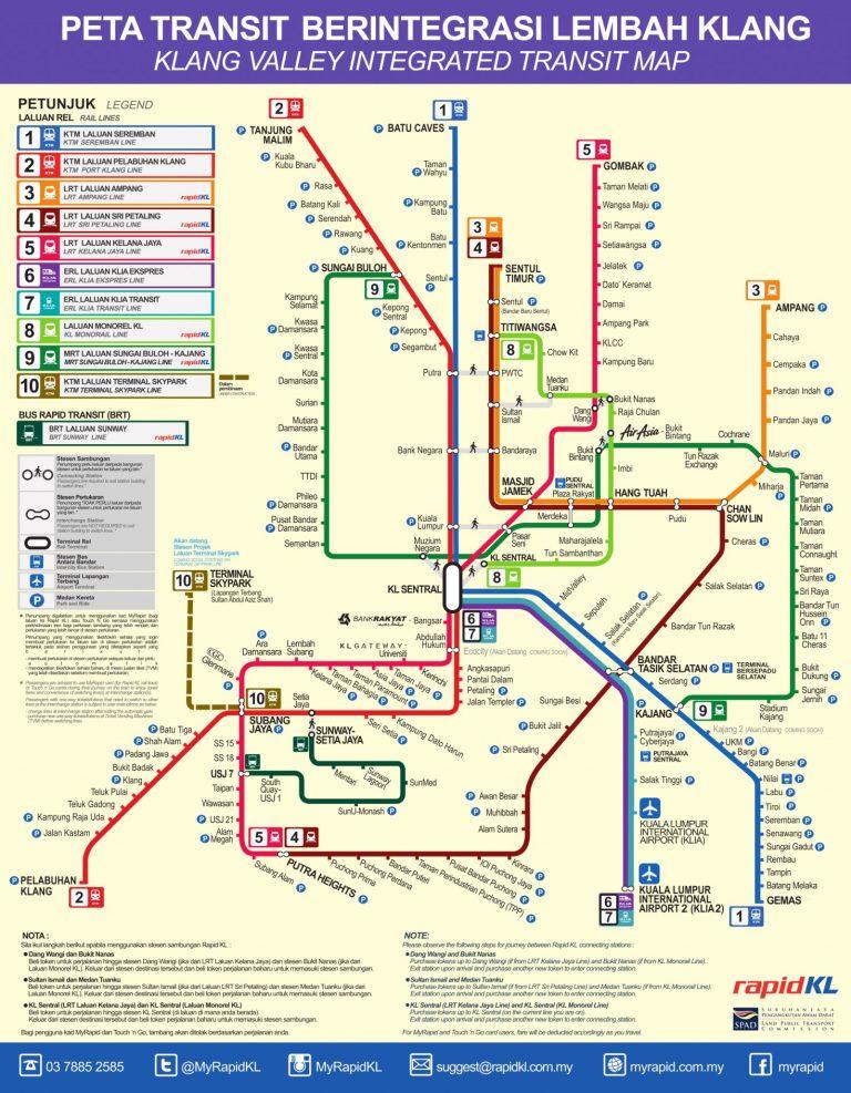 Malaysia MRT Map - MRT Route Map