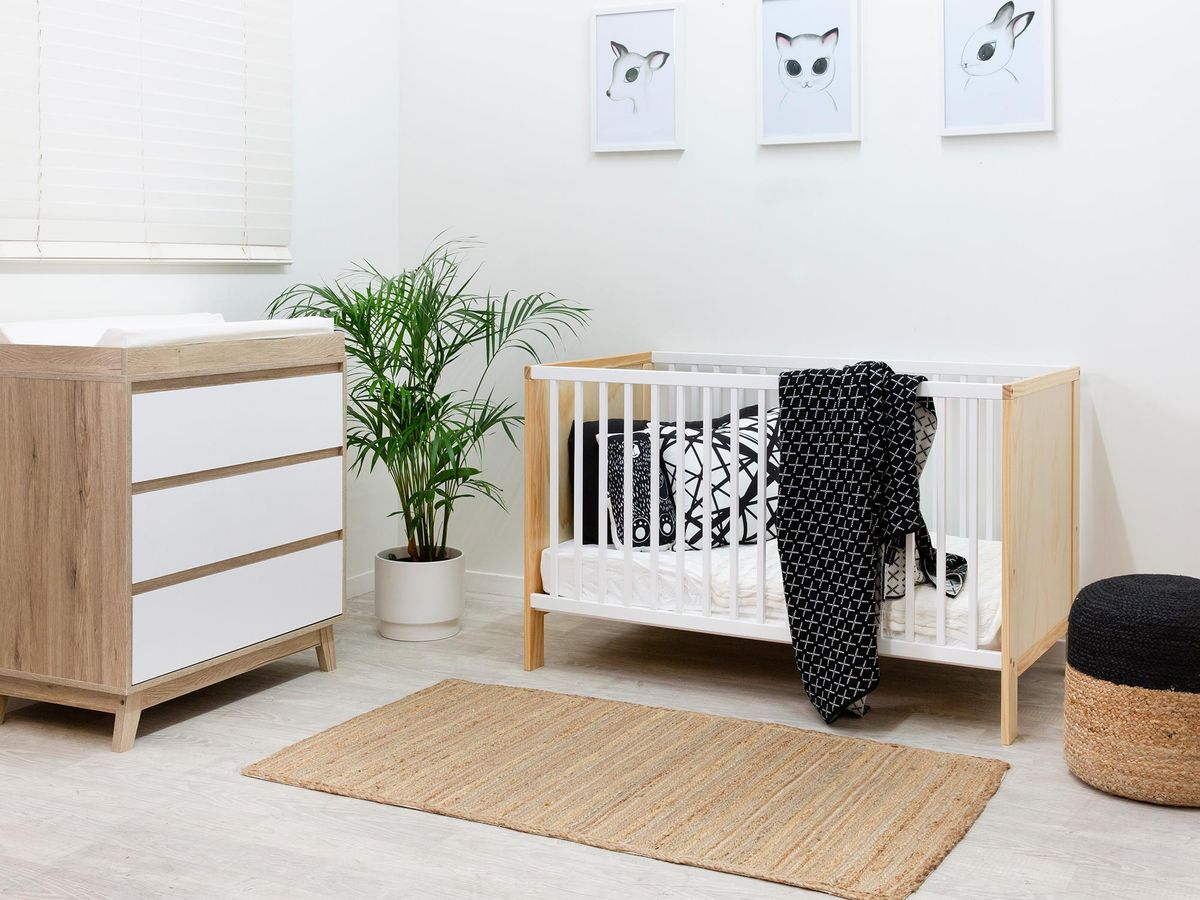 plants in baby nursery room