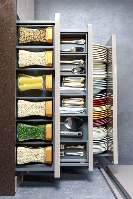 organised kitchen drawer