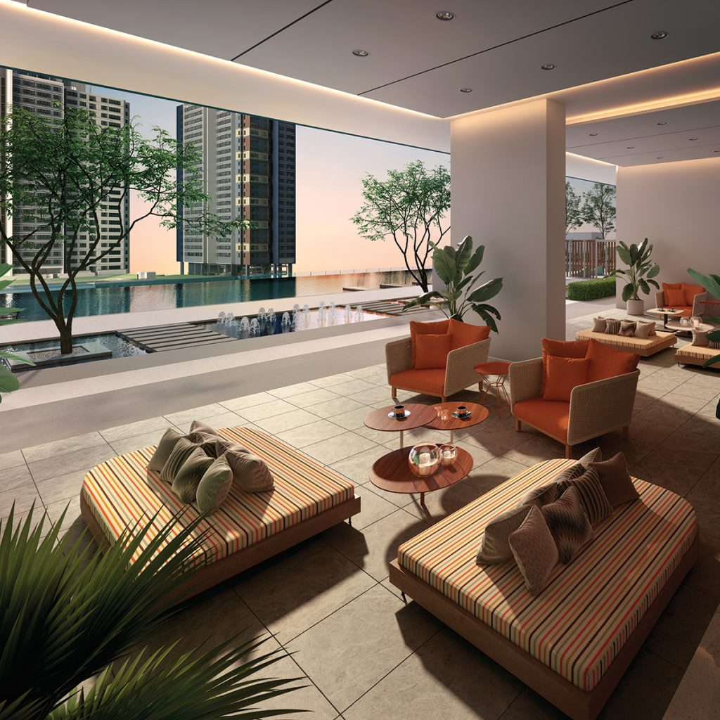 Lobby area of Residences (South) on Level-9