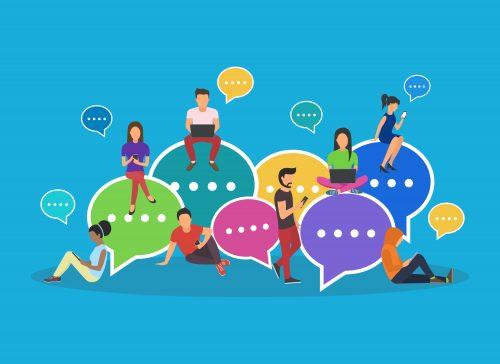 speech-bubbles-for-comment-on-social-media