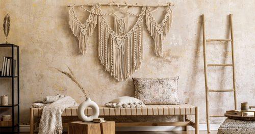hiasan dinding DIY mudah untuk ruang tamu yang estetik